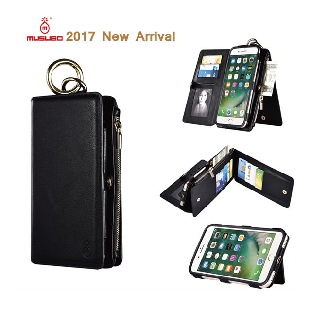 Musubo 2017 Phone Accessories PU Leather Detachable Case With Stand Holder for iPhone 5 5s Smart Phone Cover Case