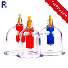 wholesale plastic cupping hijama cupping set 12 cups / vacuum cupping machine