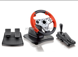 2014 China wholesale price programmable gear shifter and hand brake racing car game steering wheel joystick for pc ps2 ps3