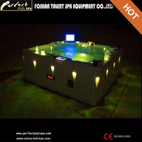 Hot sale !!! 5 seats Outdoor Spa tub/hot tub/bathtub with sex massage for home and hotel