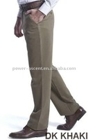 Mens wrinkle free cotton pants casual trousers