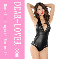 Studded Romper Black Teddies Lingerie
