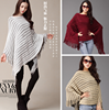 Women Poncho Batwing Style Knitted Coat