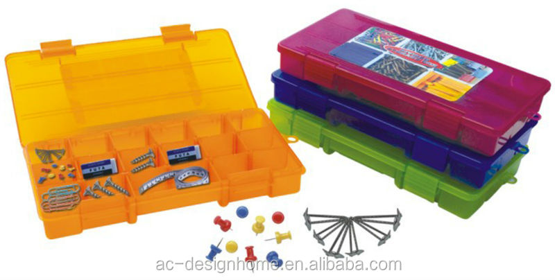 FUCHSIA, TURQUOISE, LIME GREEN, ORANGE RECTANGULAR PP PLASTIC TOOL BOXES AND CASES