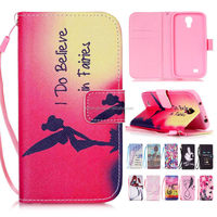 2015 Newest OEM Cartoon Printing Leather Mobile Phone Case for Samsung Galaxy S4 Mini With Hand Strap