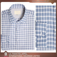Wholesale 100% Cotton Slim Fit Men Casual Check Shirt