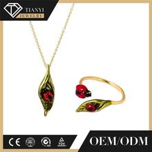 New Arrival French Les Nereides Insect Series Enamel Glazed Ladybird Leaves Pendant Necklace For Women Jewelry