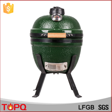 "14"" Mini Ceramic Kamado Smoker Charcoal BBQ Barbecue Grills for Indoor & outdoor"