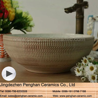 Jingdezhen factory direct hand curved space saving ceramic Corner Wash Basin