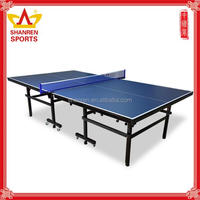 Double-folding high denisty board table tennis table for general practice