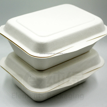 Biodegradable Sugarcane Bagasse Food Container Lunch Box
