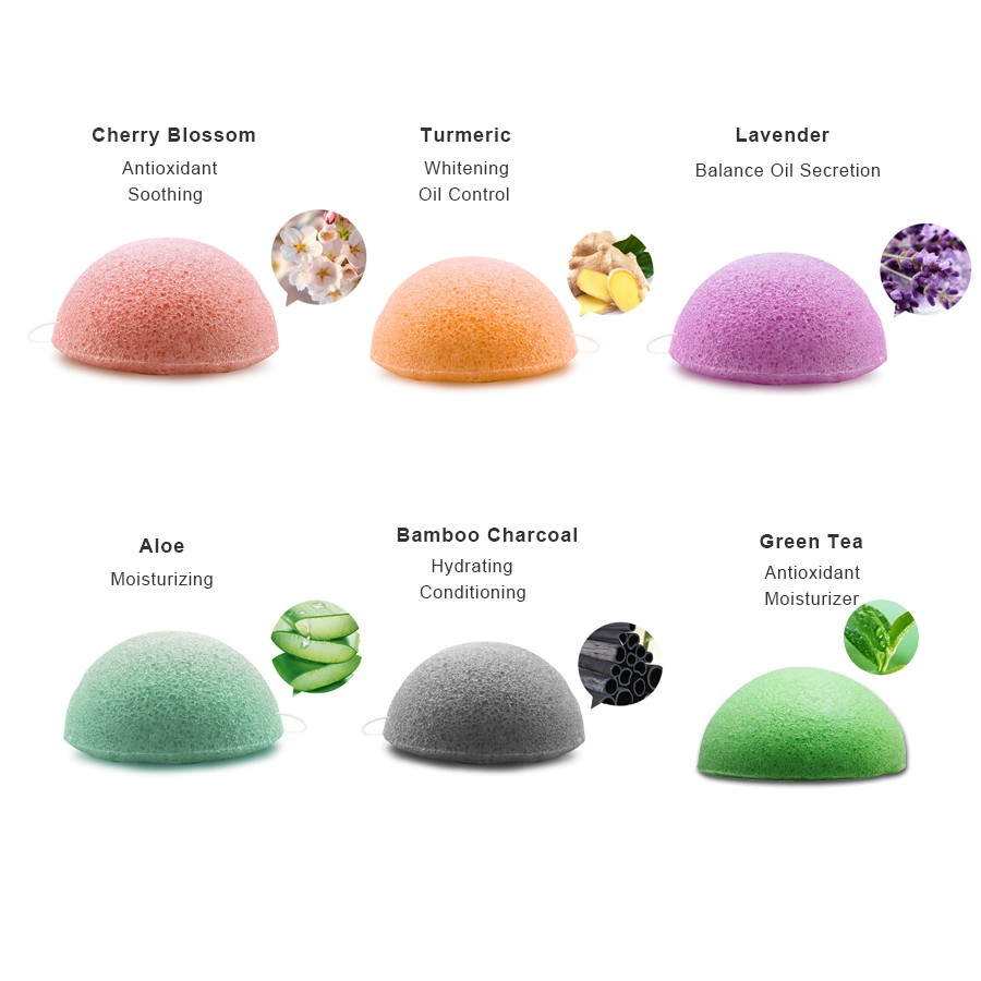 Naturals 100% Pure Konjac Cleansing Sponge, Facial Cleansing for Acne