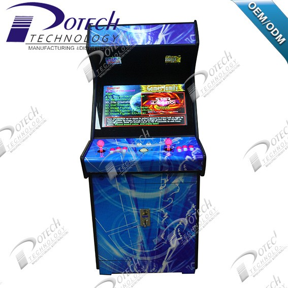26 Inch LCD Upright Arcade Game Machine Cabinet