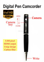 Best price and quality 5.0M pixel 1080P digital pen camcorder mini dvr HD camera hidden camera HDMI output motion detection