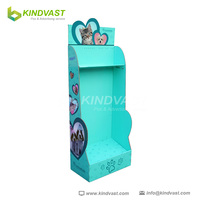 Custom Made Hook Paper Floor Stand Plush Toys Display