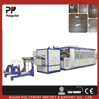 Minimizing plastic scrap plastic container making machine