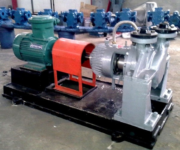 Single stage double suction waste oil transfer pump
