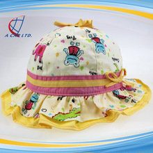 Full Cotton Floral Lacework Baby Bucket Hats
