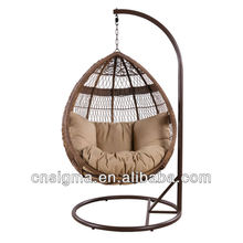 2014 Best-seller Egg Pod Hanging Chair Swing Chairs Water Drop Shaped Rattan Basket