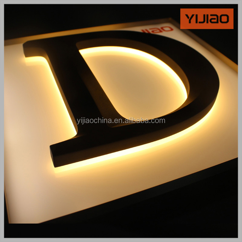 backlight led sign 3D illuminate acrylic sign with car paint