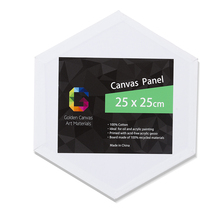 6 pcs / pk Hot Sale Artist Hexagon Standard Stretched Art Painting Blank Canvas