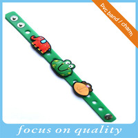 colorful debossed vinyl bespoken pvc bracelet promotion back to school