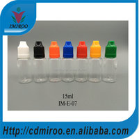 15ml dropper bottles, e-cig dropper bottles, 15ml plastic eye dropper bottle with colors for e-cigarette oil