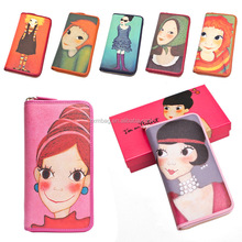 Pink girls PU wallets and purses/Fashion trends women wallets/New model ladies purses