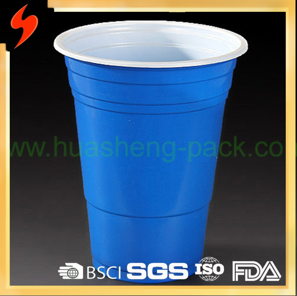 Promotional 450ml/15oz double layer disposable plastic cup