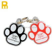 So lovely puppy ID pet tag with QR code