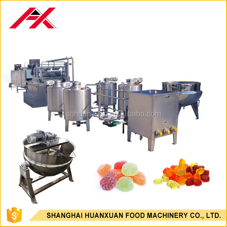Stainless steel honey colored jelly small candy making machine