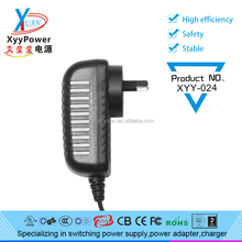 CCTV Power Adapter wall adapter 12V 2A UL CUL CSA approval 2a wall plug 12v dc power adapter