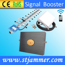 70dB Gain Tri-band Cell Phone Mobile Signal Booster Repeater Extender Full Kit GSM 900MHz DCS 1800MHz WCDMA 2100MHz Booster