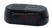 Factory Sale Digital AM/FM Tuner LED Display AM FM Radio Digital Alarm Clock