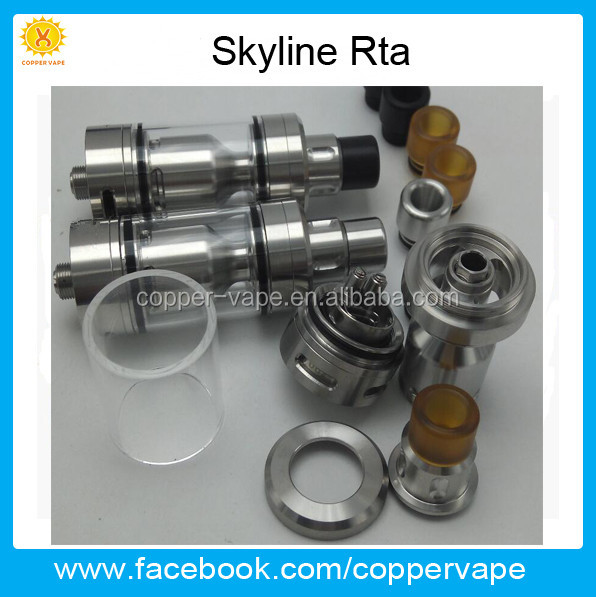 2017 Many choice for air Skydisks skyline rta Easy Top filling Coppervape skyline atomizer