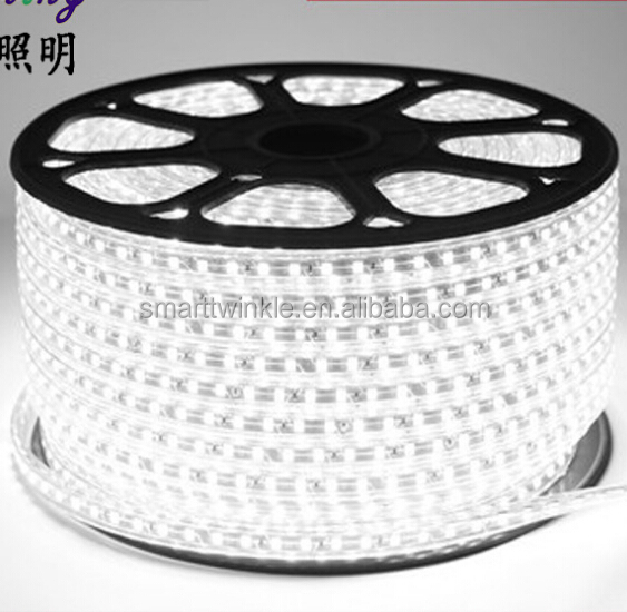 STL Waterproof SMD 3014 led strip 220V 120leds/m 50m 200m luces tiras led Flexible light Power plug 5050 60leds/m led string lig
