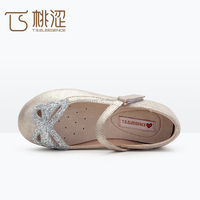 Stylish suede leather upper microfibre lining material girls basic ballerina cheap flat belly shoes for girls