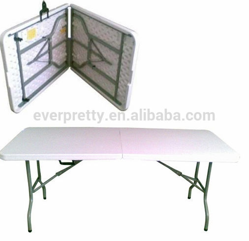 Plastic Folding Bench Table, Foldable Table Black, Rectangle Folding Cart Table