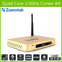 Zoomtak Android tv box T8 Plus firmware download google play store S812 Quad core 4K free Android 4.4 xbmc streaming tv box