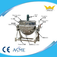 Steam Jacketed Cooking Pot With Agitator
