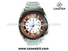 New&big metal man quartz watch OEM logo custom your own watches