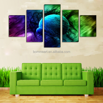2016 new product 5 Panels abstract Print oil painting on canvas For home decor Wall Art
