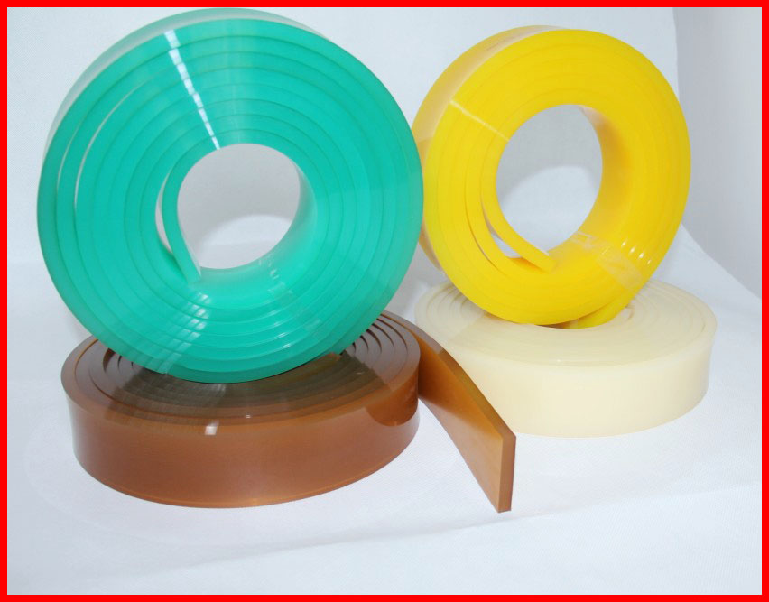 Duro 75 green for pp granule use urethane squeegee blade