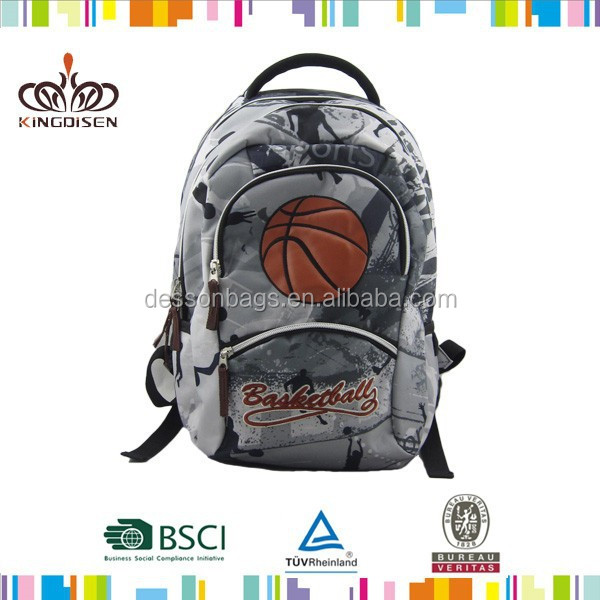 Most popular PVC basketball backpack for school teenagers boys