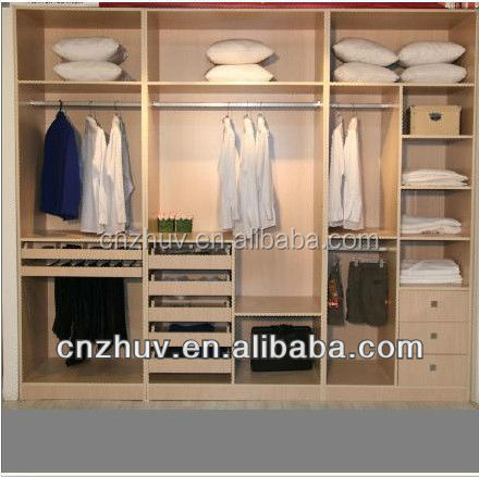Open Wardrobe closet design with Drawers