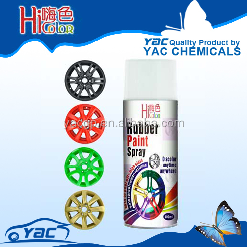 Aerosol Rubber Film for Wheel Hub Liquid Rubber coating Spray Color availabel removable Wheel Hub Spray