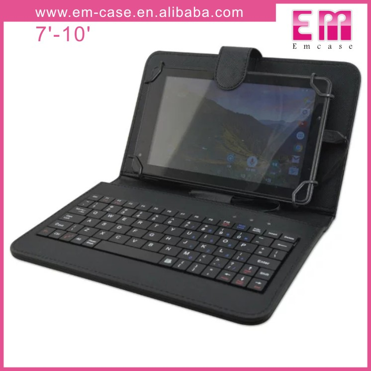 Universal 7inch-10inch Tablet Bluetooth Keyboard Leather Case With USB