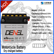 Battery for SUPER MOTORCYCLE Type 12n5-3 super motor battery charger speed motorcycle fast charge