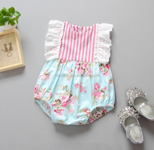 SEV.WEN Hot Sale Summer Kid Clothes Lace Ruffles wholesale china Floral Romper Baby Clothing