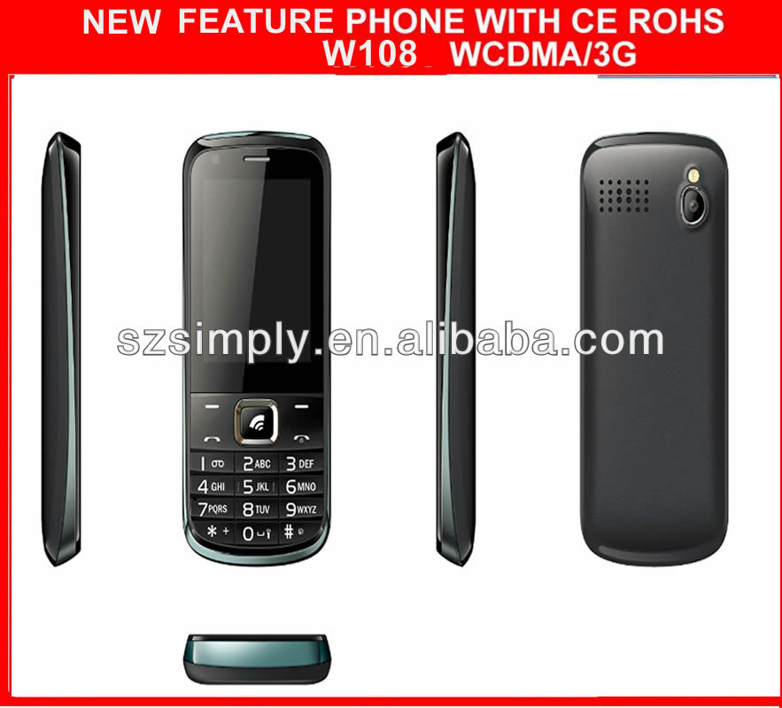 3G gsm low end featured phones W108